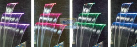 Vízkés színes LED világítással 60 CM-ES